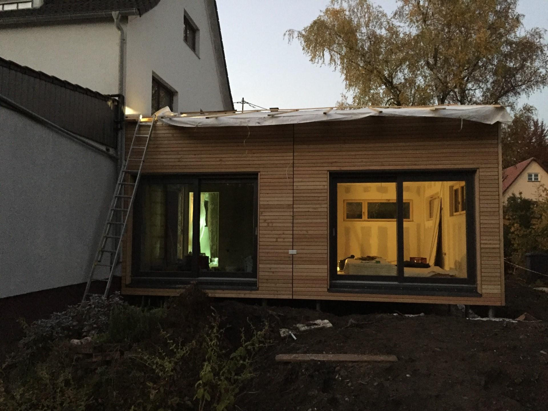 Liebenswert Holz Anbau Haus Beste Wahl Bei Diesem Projekt Wurde Ein An Ein